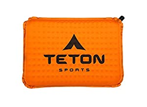 TETON Sports Comfortlite Self Inflating Seat Cushion (17 x 12 x 1.5-Inch, Orange) by TETON Sports