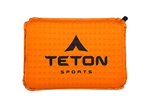 TETON Sports Comfortlite Self Inflating Seat Cushion (17 x 12 x 1.5-Inch, Orange)