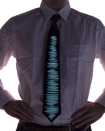 Equalizer Sound Activated Light Up Tie