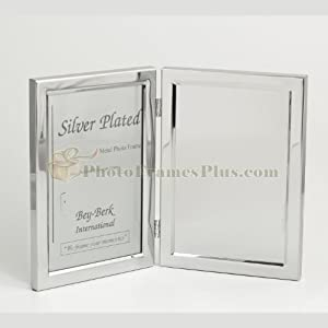 "Silver Plated, 5""x7"" Picture Frame / Engraving Plate"