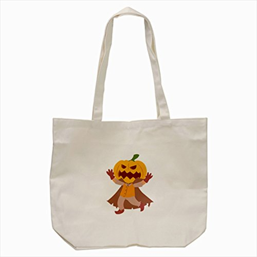 [pumpkin ghost prince cartoon halloween Tote Bag Cream color] (Good Story Book Character Costumes)