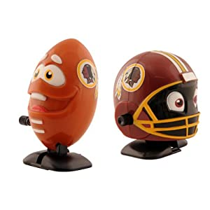 NFL Washington Redskins Wind Up Football and Helmet, Pack of 2 by Bleacher Creatures
