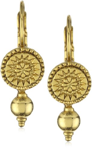 Antiquities Couture Gold-Tone Gallantry Drop Lever Back Earrings