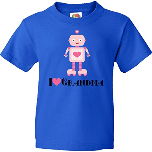 Inktastic Big Girls' Grandchild Robot From Grandma Youth T-Shirts Youth Small Royal Blue front-596926