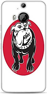 Snoogg Bulldog Mongrel Dog Front View Designer Protective Back Case Cover For HTC M9 Plus