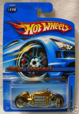 Hot Wheels Dodge Tomahawk Motorcycle Gold #176 No Series - 1