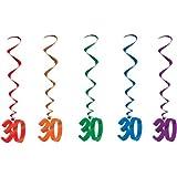 30 Whirls (asstd colors) Party Accessory  (1 count) (5/Pkg)