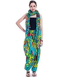 Gangaur Fashion Multi Colour Women's Patiala And Dupatta Set Of 1 ( Free Size) - B06X3T1HV4