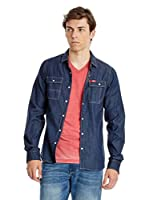 Lee Cooper Camisa Hombre Staton (Azul Oscuro)