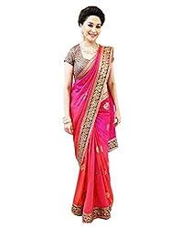 Glory Sarees Chiffon Saree (Rjv157Pnk_Pink)