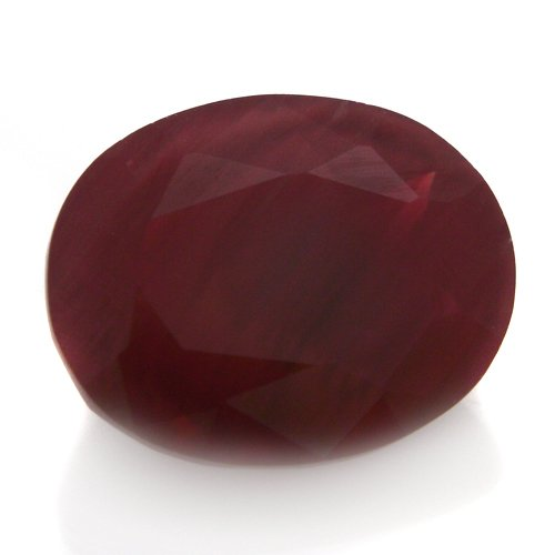 Natural Africa Red Andesine Loose Gemstone Oval Cut 9*7mm 2.15cts VS Grade