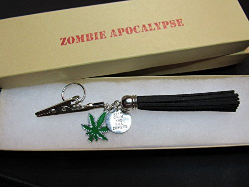 zombie-apocalypse-roach-clip-black-suede-with-charms