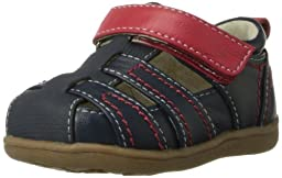 See Kai Run Ryan Fisherman Sandal (Infant/Toddler),Navy,4 M US Toddler