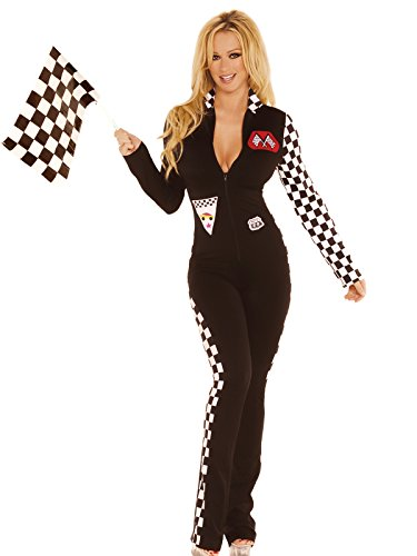 Sexy Women's Race Car Driver Jumpsuit Adult Roleplay Costume
