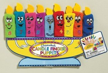 Amazing Chanukah Candle Finger Puppets with Menorah Stand(Ages 3+)
