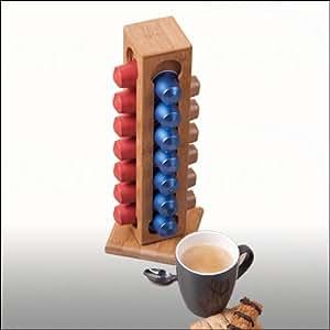 Dispenser 28 posti porta capsule in bamb per cialde tipo - Nespresso porta cialde ...