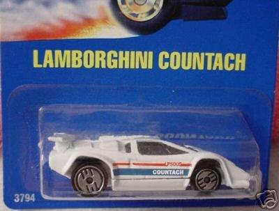 Mattel Hot Wheels 1991 164 Scale White Lamborghini Countach Die Cast Car 60