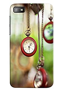 Omnam Clock Hanging With Chains Printed Designer Back Cover Case For BlackBerry Z10