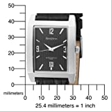 Armitron Men's 204599BKSVBK Stainless Steel and Black Leather Strap Watch