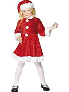Smiffys Girls Mrs Santa Claus Christmas Dress Kids Costume S