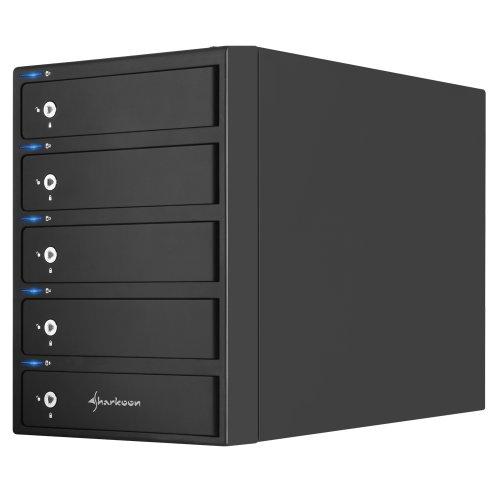 Sharkoon 5-Bay Raid-Housing 3.5 inch USB 3.0/ eSATA Black Friday & Cyber Monday 2014