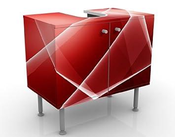 design waschtisch red heat 60x55x35cm rot us291. Black Bedroom Furniture Sets. Home Design Ideas