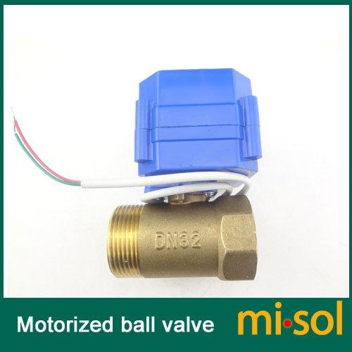 "Misol 1Pcs Of Motorized Ball Valve 1.25""(Bsp) Dn32 / 12Vdc / 2 Way / Electrical Valve / Ball Valve With Acuator / Reduce Port / Cr01"