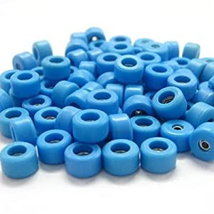 Single Bearing Wheels, Blue