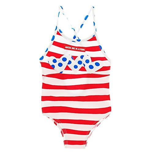 Agatha Ruiz de la Prada Red White Striped Swimsuit