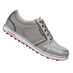 Ashworth Cardiff ADC Spikeless Golf Shoes 2014 Neutral Grey/Dark Grey/True Red Medium 14