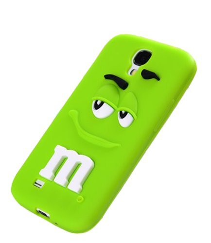 My8 Green Samsung S Iv I9500 Cover Cute M&M'S Milk Chocolate Rainbow Bean Soft Silicone Rubber Back Case Skin For Samsung Galaxy S4 Iv I9500 front-65430