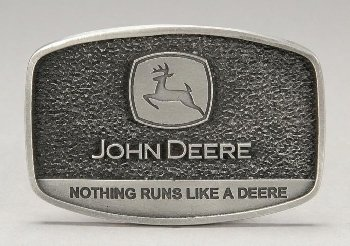 "John Deere ""Nothing Runs Like A Deere"" Belt Buckle"