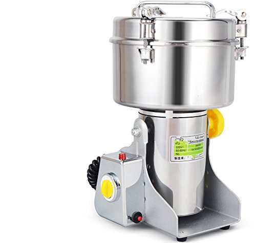 Chinese Medicine Grinder Food Mill   Large Scale 1500g Stainless Steel Electric Grinding Food Machine   110V USA /220V   Grain Pulverizer   CE Certification   Major Grinding Herb & Spice Mill (Chinese Medicine Grinder compare prices)