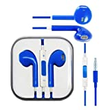 Blue Hi-Fi High Resolution Sound Stereo Fashion Sports Running GYM Headsets Earphones Earbuds Headphones headset With Remote, Mic & Volume Controls For Apple iPad 5/4/3/2/1, iPhone 5s 5 4 4s 3gs, Ipod Touch All Mp3 Mp4 Players Sony Creative Samsung, All