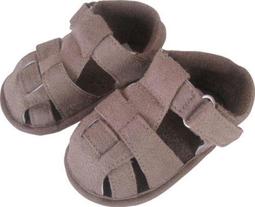 Max and Tilly Baby Boy Mock Suede Brown Sandals Baby Shoes size Newborn