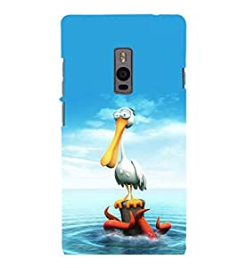 printtech Crane Octopus Seawater Back Case Cover for One Plus Two ::One Plus2