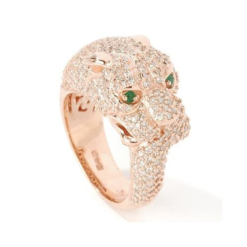 Amazon.com: 14K Rose Gold Effy Panther Diamond Ring: Jewelry