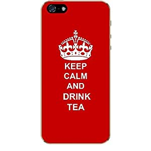 Skin4gadgets Keep Calm and DRINK TEA - Colour - Red Phone Skin for APPLE IPHONE 5S