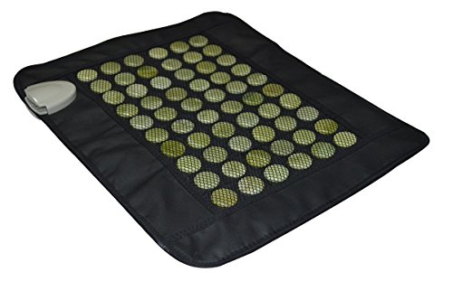 """UTK Far Infrared Heating Pad - Natural Jade Heating Pad for Chronic Back Pain Relief - Small (19"""" X 15""""), Smart Controller, Adjustable Temp and Travel Bag Included"""