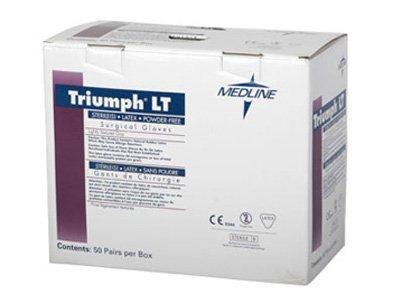 Medline Mds108080Lt 8 Triumph Powder-Free Surgical Gloves front-598275