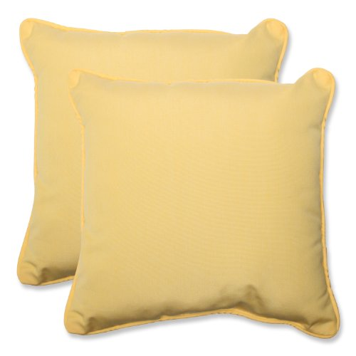Where to buy Pillow Perfect Throw Pillow with Yellow Sunbrella Fabric 18 5 Inch Set of 2 ...