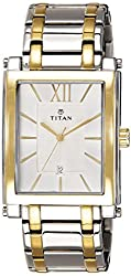 Titan Regalia Analog (WHITE & SILVER) Dial Mens Watch - NE9327BM01A