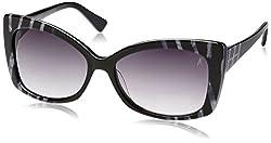 Guess Marciano UV Protected Wayfarer Women's Sunglasses - (GM658BLKZ-3559|50|Black lens)