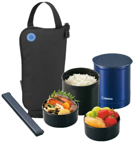 Zojirushi SZ-JA02BA Mini Bento Lunch Jar, Black (Zojirushi Thermos Bento compare prices)