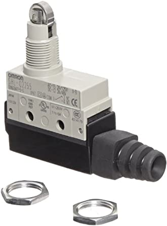 Omron SHL-Q2255 Subminiature Enclosed Switch, High Sealing, Standard, Panel Mount Roller Plunger Actuator