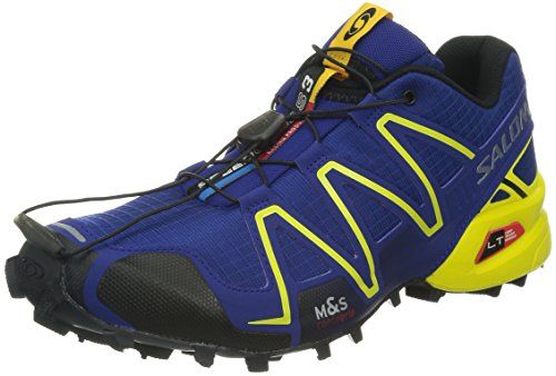 SALOMON Speedcross 3 Men's Trail Running Shoes, Blue/Yellow, UK6.5