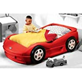 Little Tikes Roadster Toddler Bed Red with Mattress