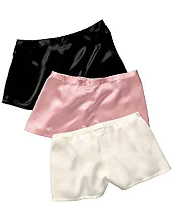 Jasmine Silk Lady's Classic Silk French Knickers boxers Large (14-16) Ivory