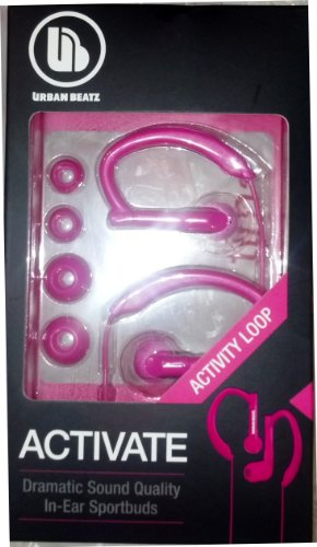 Urban Beats Activate Dramatic Sound In-Ear Sportbuds Color:Pink