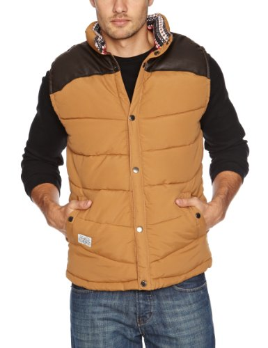 Bellfield Padded Camel Colour Men's Gilet Caramel X Large
